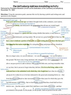 annotated text example close reading pinterest reading resources english class and school. Black Bedroom Furniture Sets. Home Design Ideas