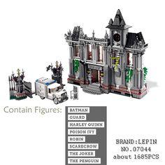 Lepin 07044 1685Pcs Super Hero Series The Batman Asylums Set Children Educational Building Blocks Bricks Toys Model Gift 10937 #Affiliate