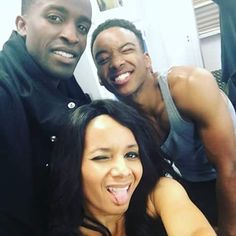 With all the buzz on BET about The New Edition Mini Series coming up...I am excited to see, & to have been a part of it...no matter how big or small.  It was an honor & a humbling experience. Just being Me with these two Handsome Men on the set...Mr. Elijah Kelley @oneelijahkelley (Ricky Bell) & Mr. Algee Smith @Itsalgee (Ralph Tresvant)... I will never forget Elijah Kelley's reaction to Me when I took that wig off! ❤ Be sure to check out The New Edition Mini Series starting January 24th…