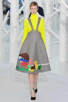 wgsn: Chiffon flowers sit atop floating structured fit and flare dresses at the@officialdelpozo#NYFW #AW15 show