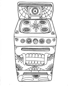 Yucca Flats, N.M.: Wenchkin's Coloring Pages - Day of the Oven * Day of the Dead, dia de los muertos, Sugar Skull, Coloring pages colouring adult detailed advanced printable Kleuren voor volwassenen coloriage pour adulte anti-stress kleurplaat voor volwassenen Line Art Black and White
