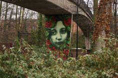 flower girl #urban #art #graffiti #mural