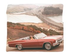 "1966 Chevrolet Impala Full Color Photo Blanket / Wall Banner 50 x 60"" or 60 x 80"""