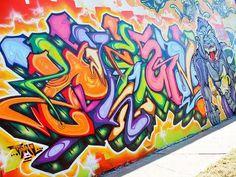 graffiti Graffiti Art Mural by MESA graffiti cat Title: I fear nothing London Graffiti stre. Graffiti Tagging, Graffiti Words, Graffiti Writing, Best Graffiti, Graffiti Artwork, Graffiti Lettering, Graffiti Wall, Street Art Graffiti, Images Alphabet