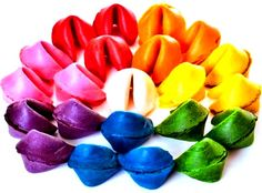 Rainbow Chinese fortune cookies