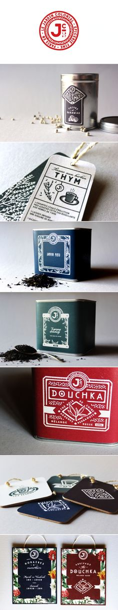 Le Jardin Colonial: concept identity & packaging / by Adrien Grand Smith Bianchi Art Design, Design Poster, Graphic Design Branding, Corporate Design, Label Design, Spices Packaging, Tea Packaging, Beverage Packaging, Bottle Packaging