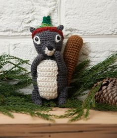 Christmas with a woodland theme - free patterns to knit and crochet
