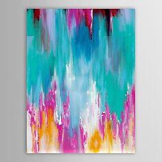 handgeschilderde olieverf abstract beeld van de woonkamer met gestrekte frame – EUR € 60.16