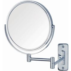 Jerdon Style Wall-Mount Mirror (53 CAD) ❤ liked on Polyvore featuring home, bed & bath, bath and bath accessories