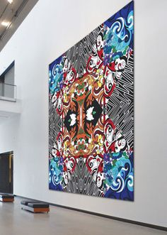 reuben paterson Long White Cloud, Maori Art, Key To My Heart, Exhibition Space, Painting Patterns, Art Studios, New Art, New Zealand, Arts And Crafts