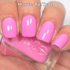 Essie gel couture haute to trot Essie Nail Colors, Manicure Colors, Pretty Nail Colors, Nail Polish Colors, Pretty Nails, Nail Polish Art, Essie Nail Polish, Essie Gel, Nail Polishes