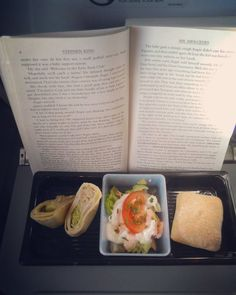 On my #wayhome to the #faroeislands!!!  #Airplanefood & #stephenking  #iloveit!!  I was hoping for #sushi but maby I'll get that on my way back to #Denmark  #fly #travel #food #visitfaroeislands #reading #salmonsalad #tunaroll #home #airplane #instadaily #goinghome #여행 #연어 #atlanticairways #travelgram #음식 #mrmercedes #book #책 # # # #스티븐킹 by maiinajo