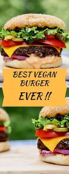 The BEST Veggie Burger Recipe, easy to make and totally vegan! The BEST Veggie Burger Recipe, easy to make and totally vegan! Grillable Veggie Burger Recipe, Best Vegan Burger Recipe, Best Veggie Burger, Vegan Burgers, Vegan Chickpea Burger, Healthy Burger Recipes, Beef Burgers, Best Vegan Recipes Dinner, Vegan Recipes