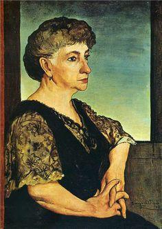 Portrait of artist's mother - Giorgio de Chirico Italian Painters, Italian Artist, New Artists, Famous Artists, Portrait Art, Portraits, Female Portrait, Art Database, Traditional Paintings