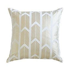 Gold Arrows Pillow - cool site for pillows and rugs