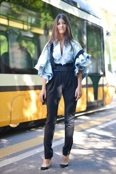 Street Style bei der Fashion Week in Mailand