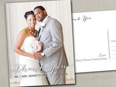 Wedding Thank You Notes Photo Magnets Postcards by SAEdesignstudio
