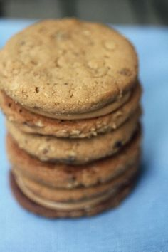 Peanut butter sandwich cookies (recipe by Tom Collichio) ... These will be made SOON.