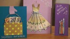 Ya sea boda o cumpleaños: los regalos de dinero siempre son populares. Wedding Presents For Newlyweds, Wedding Gifts, Birthday Gift For Wife, Diy Birthday, Craft Gifts, Diy Gifts, Handmade Gifts, Don D'argent, Money Creation