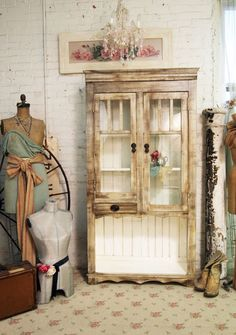 The Painted Cottage Studio Store   Painted Cottage Handmade Farmhouse Bookcase / China Cabinet CC281