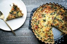Bacon, Leek, and Gruyere Quiche recipe on (easy press-up, no-blind-bake crust) Keto Quiche, Bacon Quiche, Quiche Recipes, Entree Recipes, Brunch Recipes, Breakfast Recipes, Vegetarian Recipes, Cooking Recipes, Recipes