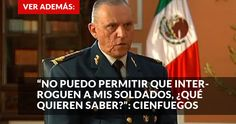 """El General Salvador Cienfuegos Zepeda, titular de la Secretaría de la Defensa Nacional (Sedena), sostuvo hoy que no hay avances """"objetivos y palpables"""" en la reconformación de las policías en México que permitan que el Ejército vuelva a los cuarteles."""