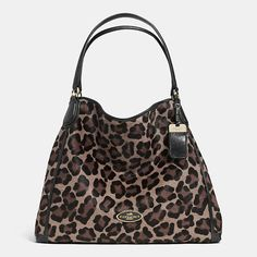 Coach  LARGE EDIE SHOULDER BAG IN PRINTED HAIRCALF