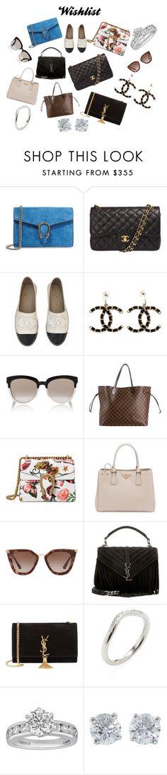 """Wishlist"" by curvysalad on Polyvore featuring Mode, Gucci, Chanel, Christian Dior, Louis Vuitton, Prada, Yves Saint Laurent und Tiffany & Co."