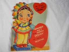 Valentine Card Vintage Indian Girl Wooden Cigar Indian - http://raise.bid/store/collectibles/valentine-vintage-indian/