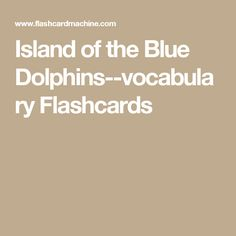 Island of the Blue Dolphins--vocabulary Flashcards