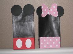 Minnie Mouse Favor Bags $15.00 via- Little Bird Paper Shop on etsy.com