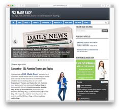 ESL Made Easy is a resource site for English language teachers. It is curated by a Canadian English language tutor who knows exactly where to find the resources that teachers need. Each month you will find a useful calendar of lesson topics to teach, as well as links to ready-made resources. You'll also find links …