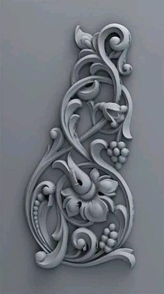 Ornement - php developer info Wood Carving Designs, Wood Carving Patterns, Clay Wall Art, Clay Art, Wooden Door Design, Wood Design, Painted Staircases, Baroque Design, 3d Models