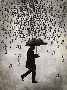 Music notes in the rain. I love to hear what tune it plays when it hits the umbrella. All About Music, Singing In The Rain, Illustration, Music Lovers, Music Quotes, Film Quotes, Piano Quotes, Music Stuff, Belle Photo