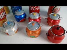 Como fazer panelinha de latinha rápido e fácil - YouTube Diy Crafts Hacks, Fun Crafts, Diy And Crafts, Pop Can Art, Soda Tab Crafts, Plastic Bottle Art, Creative Box, Tin Art, Pop Cans