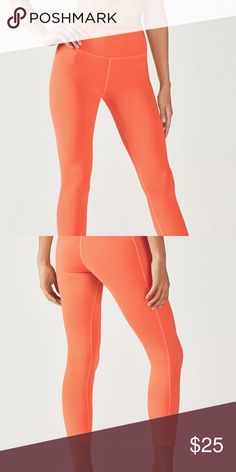 NEW Orange High-Waisted Leggings Lisette high-wasted leggings: Fiery Orange. Brand new, never worn. Brand: Fabletics. Absolutely LOVE these leggings!! The Lisette high-wasted hugs every curve without being TOO tight. Allows for flexibility and is also very supportive. Also includes mini pocket located on the inner right side of the hip for your phone😍 Fabletics Pants Leggings