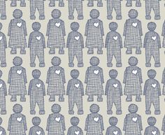 Love Doll Cream White OP and Chambray Blue on Linen | Design Team