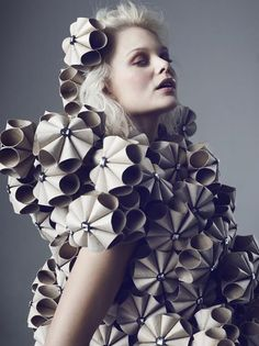 10 Paper Fashion Designers Who Will Blow Your Mind - Eluxe Magazine - paper fashion designers, paper fashion designs, ethical fashion, eco friendly fashion, sustainable - Paper Fashion, Origami Fashion, Fashion 2017, Diy Fashion, Ideias Fashion, Fashion Show, Woman Fashion, Fashion Boots, Spring Fashion