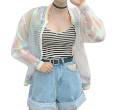Iridescent Pastel Rainbow Jacket sold by Pollyanna. Shop more products from Pollyanna on Storenvy, the home of independent small businesses all over the world.