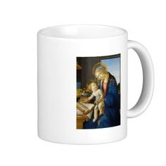 Madonna of the Book by Botticelli Mug