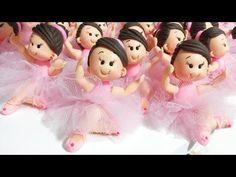 Bailarinas em biscuit para lembrancinha e topo de bolo - YouTube