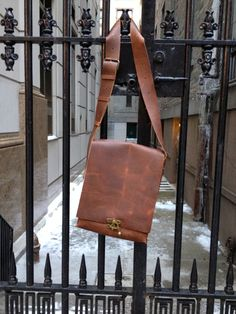 Leather lap top messenger bag  lap top & by LUSCIOUSLEATHERNYC, $349.00