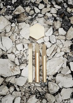 Luxurious Artifacts  :  Emilie F. Grenier  Minimalist Items Forged From Crystalline, Minerals and Industrially Extruded Brass