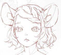 Anime Drawings Sketches, Anime Sketch, Cute Drawings, Anime Art Girl, Manga Art, Pretty Art, Cute Art, 8bit Art, Arte Sketchbook