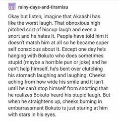 Bokuto loves his laugh! I ship it! Bokuto X Akaashi, Daisuga, Kuroken, Bokuaka, Iwaoi, Kenma, Kagehina, Haikyuu Funny, Haikyuu 3
