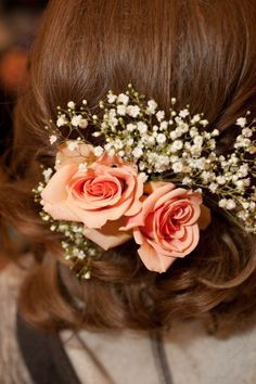 Create your own stunning hairpiece for your wedding with preserved and faux flowers from Afloral.com.  Afloral.com preserved rose heads will last as long as silk and they look and feel real, because they are!