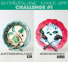 Anthropologie Challenge Week {Day #1} - Spoon Plate Stand - SohoSonnet Creative Living