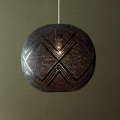 Perforated Globe Pendant - Diamond | west elm