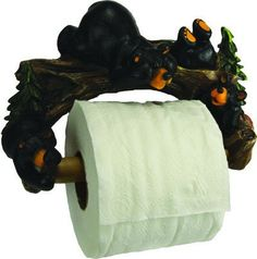 Add a touch of the outdoors to your bathroom with the Rivers Edge Cute Bears Wall Mount Toilet Paper Holder. The detail designed poly resin pinecone holder hold Unique Toilet Paper Holder, Wall Mounted Toilet, Thing 1, Bear Cubs, Cute Bears, Rivers, Paper Holders, Bathroom Stuff, Cabin