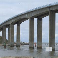 Noirmoutier Bridge in Barbâtre and La Barre-de-Monts, Vendée Pays de la Loire, France, Europe.